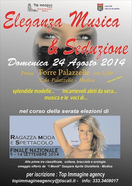 Modica. Eleganza, Musica & Seduzione, il 24 agosto modelle e auto d'epoca a Torre Palazzelle