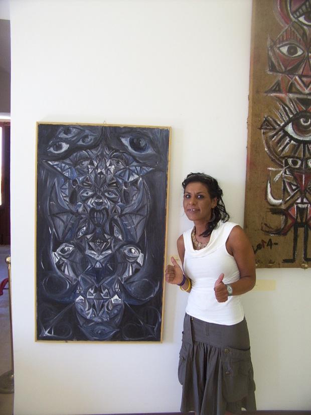 Nella foto la pittrice Flavia Albani