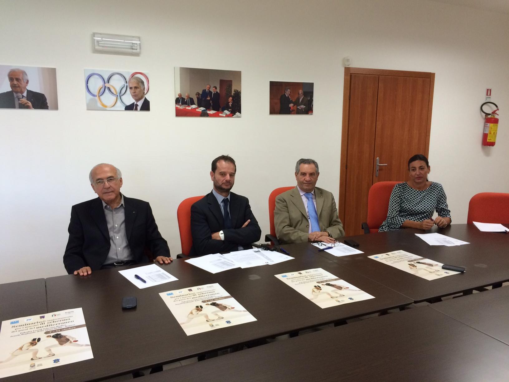 Ragusa, presentato il seminario di aggiornamento per i maestri di scherma dei Paesi del Mediterraneo
