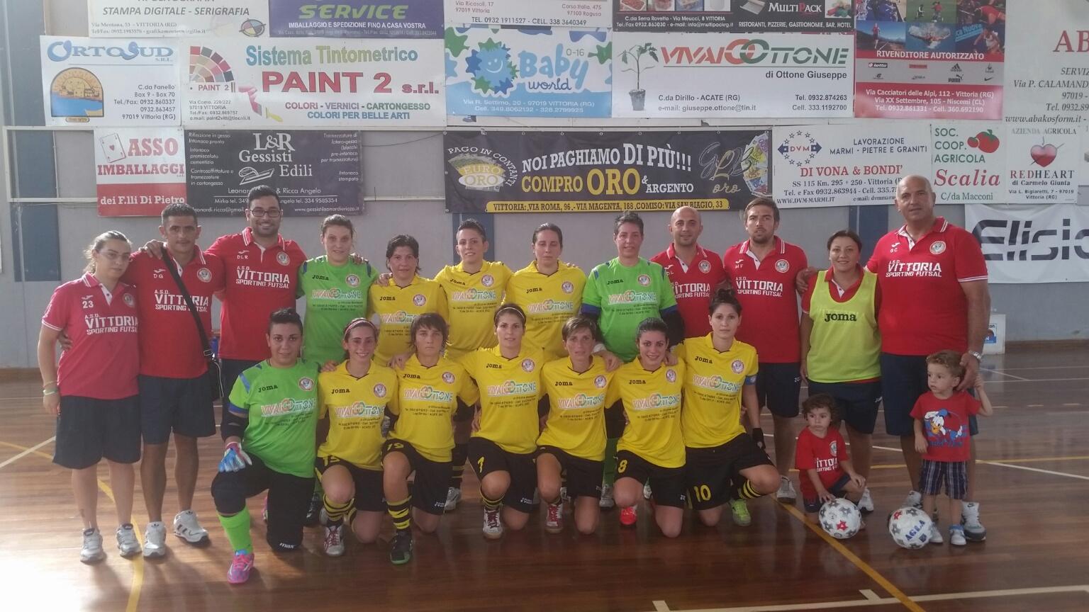Il Vittoria Sporting Futsal schianta all'esordio il Città di Acicatena 8 a 2 per le padrone di casa