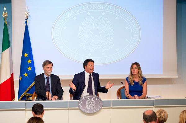 Il Presidente del Consiglio, Matteo Renzi, presenta il programma dei mille giorni
