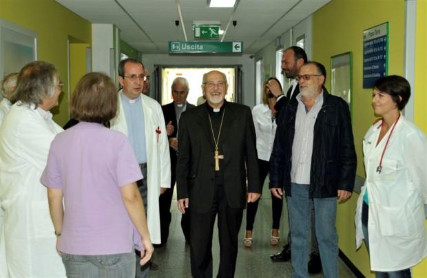 San Luca 2014 l'arrivo del vescovo Urso