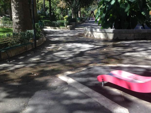 Villa Margherita il rivolo d'acqua che raggiunge i giochini