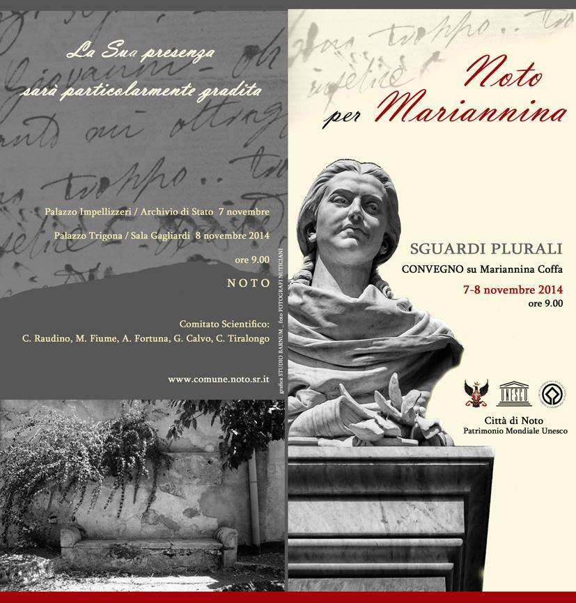 Noto celebra una tra i suoi figli più illustri: Mariannina Coffa