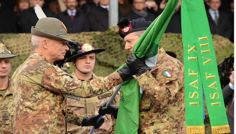 Esercito. Il Generale Battisti cede il comando