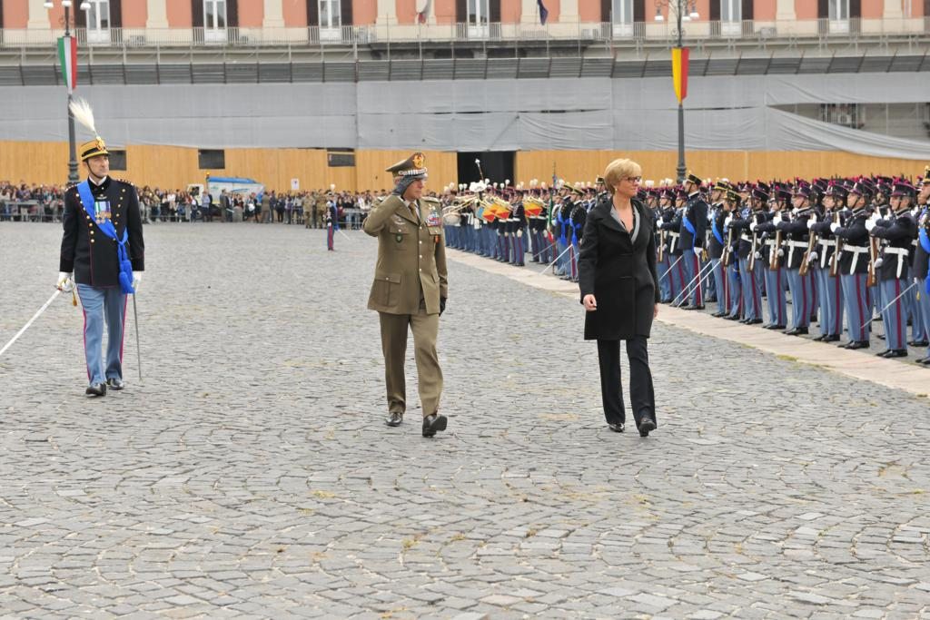 Esercito. Giuramento di fedeltà alla Repubblica Italiana degli Allievi della Nunziatella del 227° corso