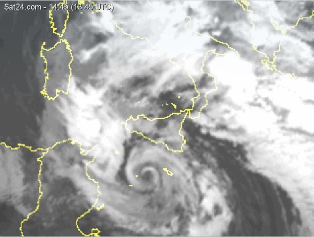 Allerta Meteo. Possibile ciclone simil-tropicale su coste siciliane