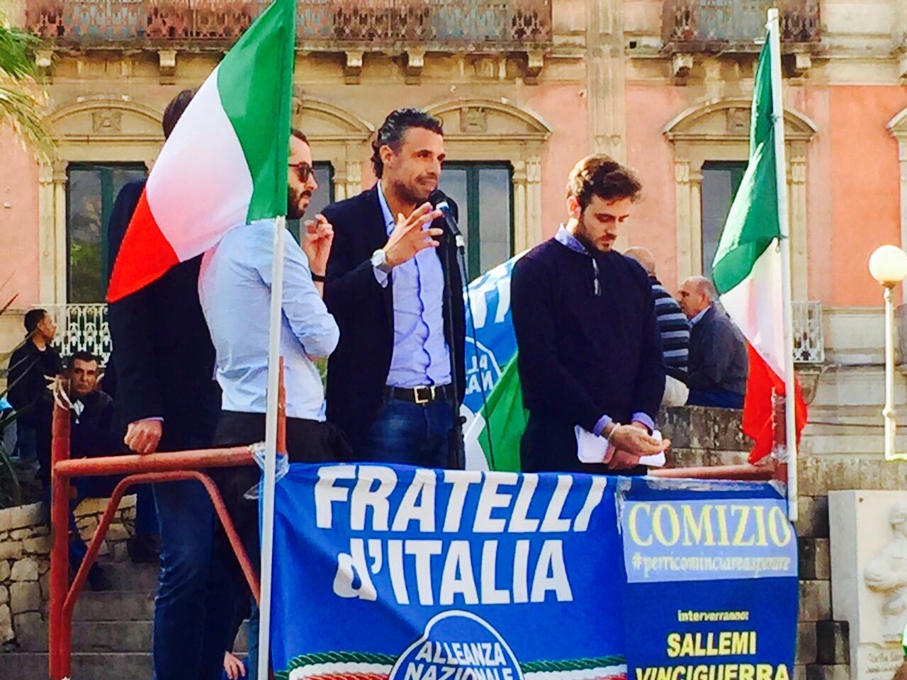 """Vittoria. Sallemi: """"Silenzioso comizio del Sindaco conferma quanto denunciato da Fratelli d'Italia"""""""