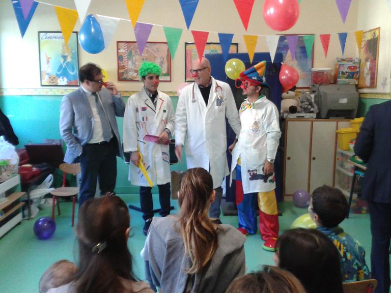 Clownterapia all'ospedale Umberto I di Siracusa