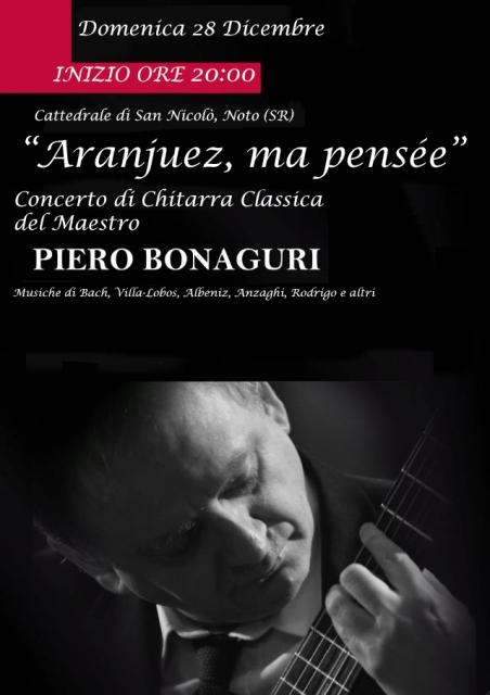 Domani il maestro Pietro Bonaguri in concerto nella Cattedrale di Noto