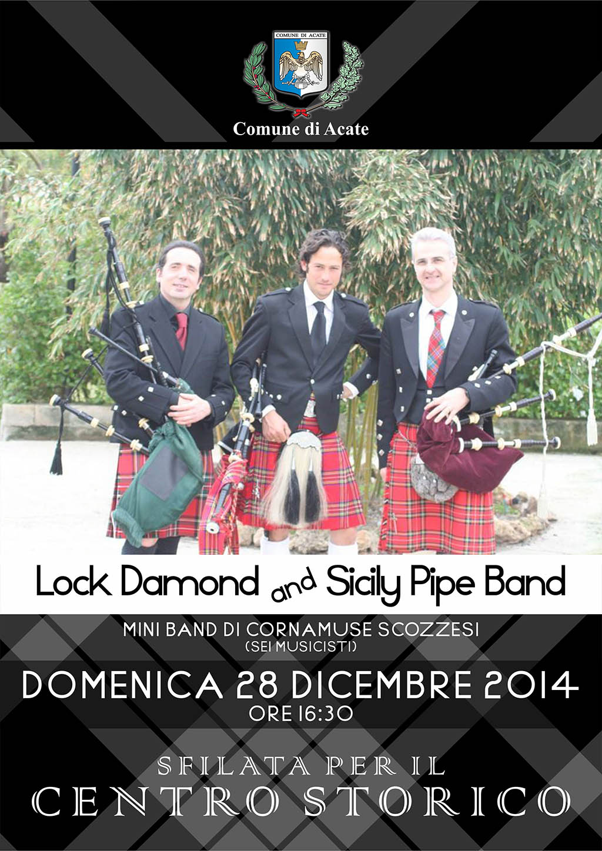 Acate. Domenica 28 dicembre sfilata di cornamuse scozzesi per il centro storico