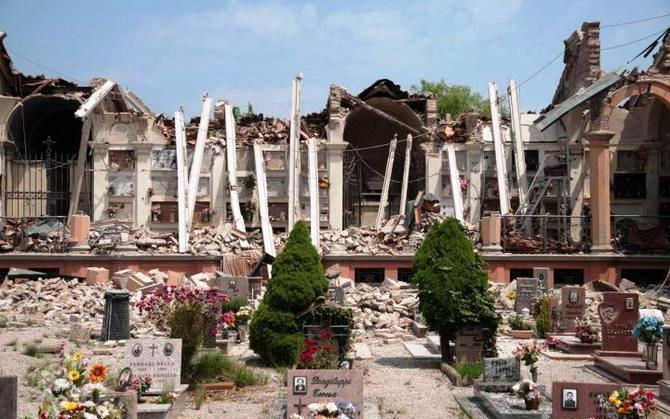 Concordia Sulla Secchia (Modena). Al via i lavori di restauro e ripristino del Cimitero Monumentale danneggiato dal sisma del 2012.