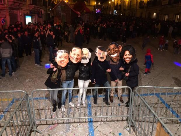 Carnevale 2015 maschere spiritose in piazza