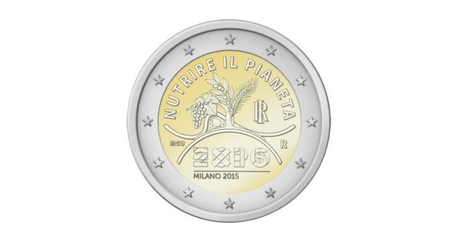 In arrivo le monete commemorative da 2 Euro, quest'anno l'Italia le dedica all'Expo e a Dante Alighieri