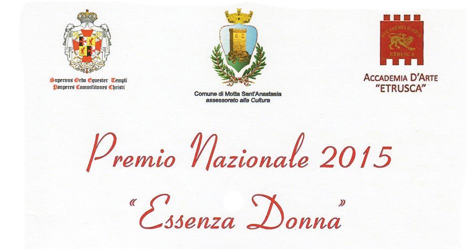 """Premio Nazionale """"Essenza Donna"""" 2015"""
