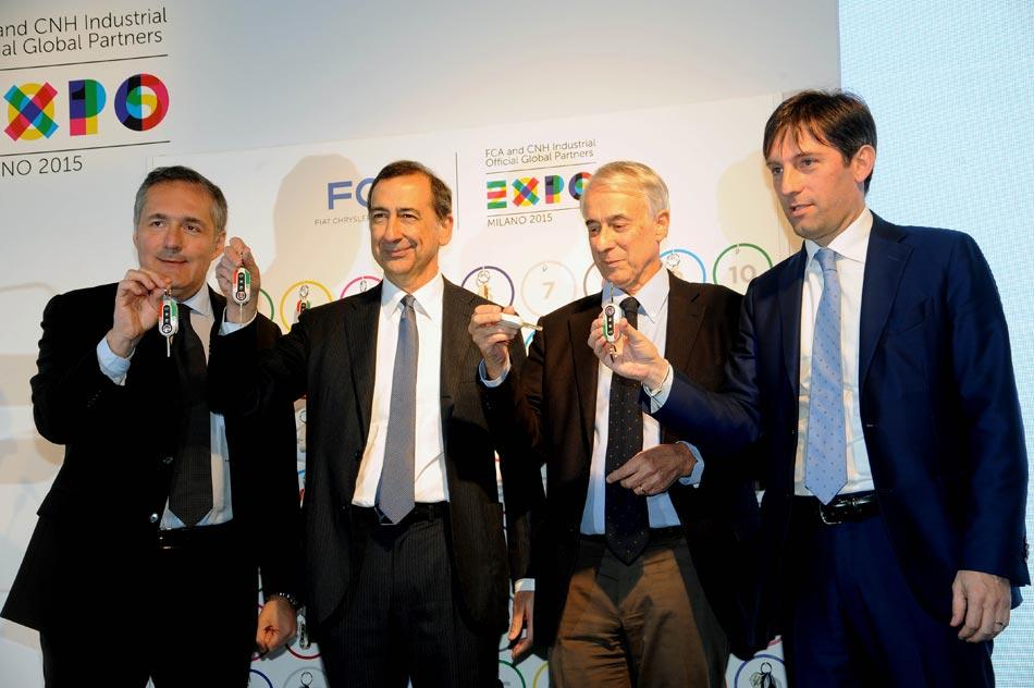 FCA consegna a Expo Milano 2015 la flotta di auto ecosostenibili