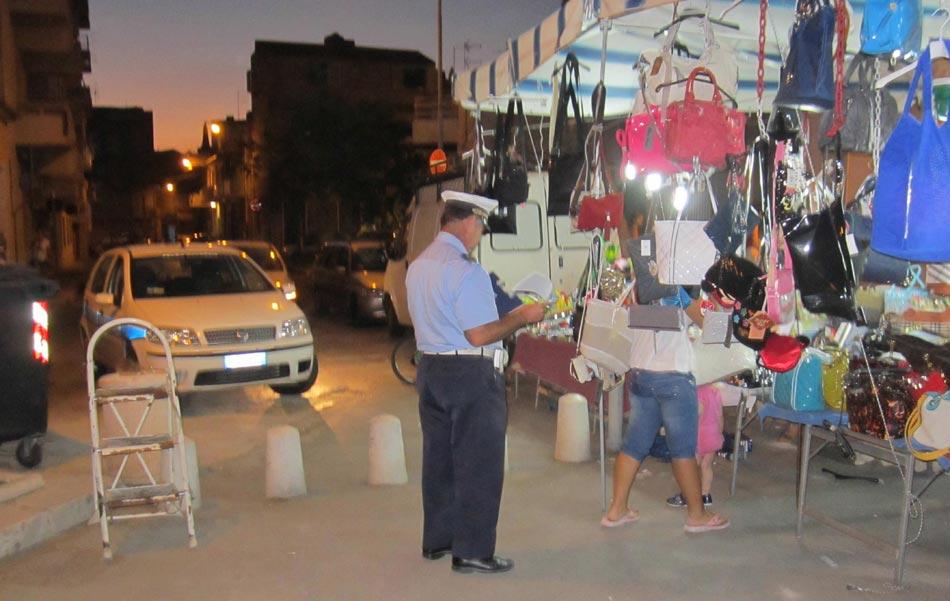 Vittoria. Abusivismo commerciale, controlli e sanzioni della Polizia municipale