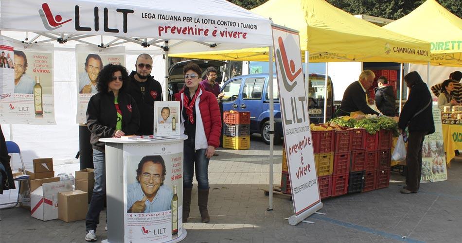 """""""Settimana Nazionale per la Prevenzione Oncologica"""". La LILT sarà presente a Catania in Piazza Giovanni Verga e a Mascalucia in Piazza San Vito"""