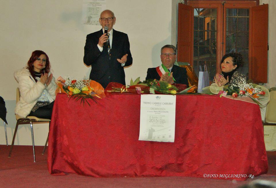 """Acate. Il """"Premio Gabriele Carrubba-Edizione 2015"""" al giornalista Pietro Mezzasalma"""