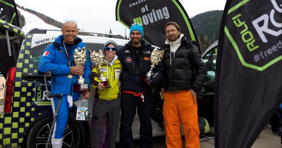 ROLFI premia gli atleti vincitori dei Campionati Italiani Disabili FISIP Sci Alpino 2015