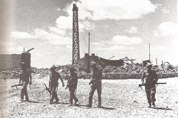 Soldati Inglesi dopo la conquista della ridotta