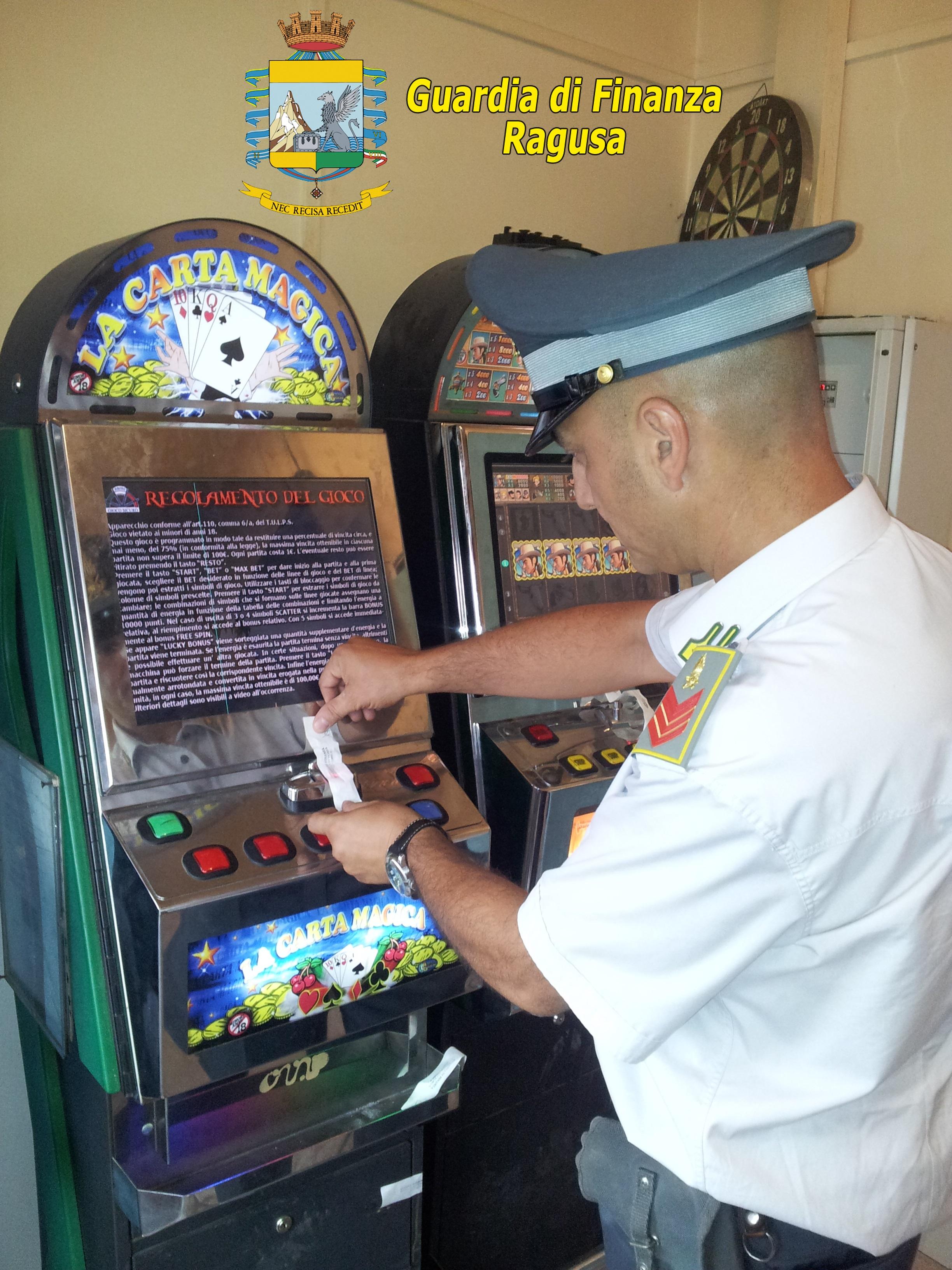 Comiso. La Guardia di Finanza a contrasto del gioco illegale: sequestrati videopoker illegali.