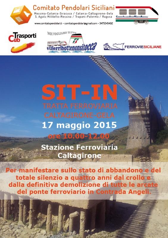 """Comitato Pendolari Siciliani-Ciufer: """"In Sicilia non crollano solo i ponti e i viadotti di strade ed autostrade ma anche i ponti ferroviari non sono da meno""""."""
