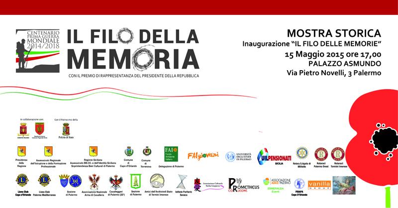 """Palermo: """"Il filo della memoria"""", mostra dedicata alla Grande Guerra."""