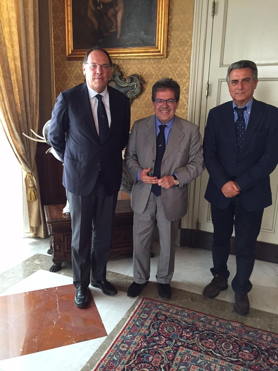 Catania.Il sindaco Enzo Bianco ha incontrato l'amministratore delegato della Cin Ettore Morace