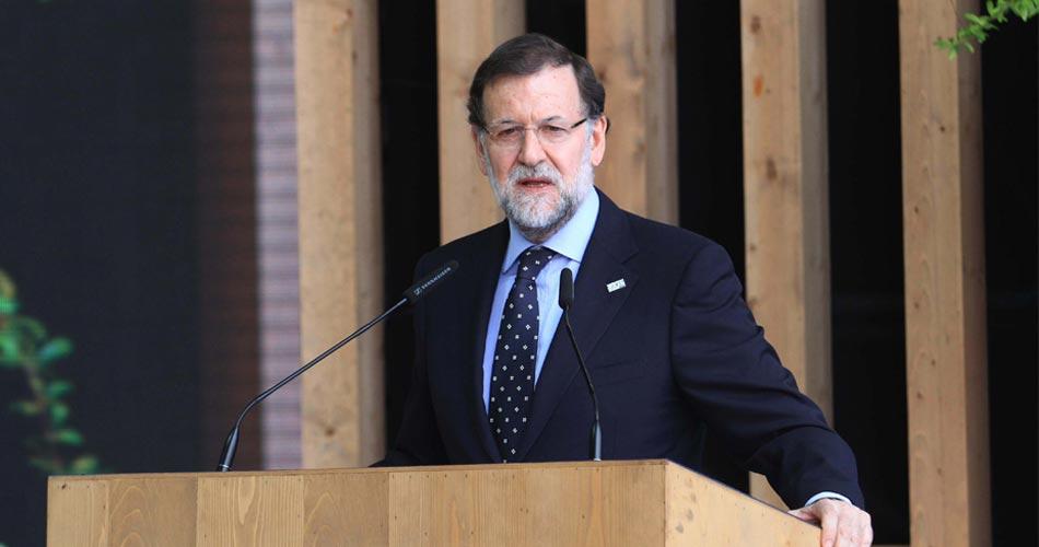 Expo Milano 2015, il primo ministro Mariano Rajoy alle celebrazioni del national day della Spagna