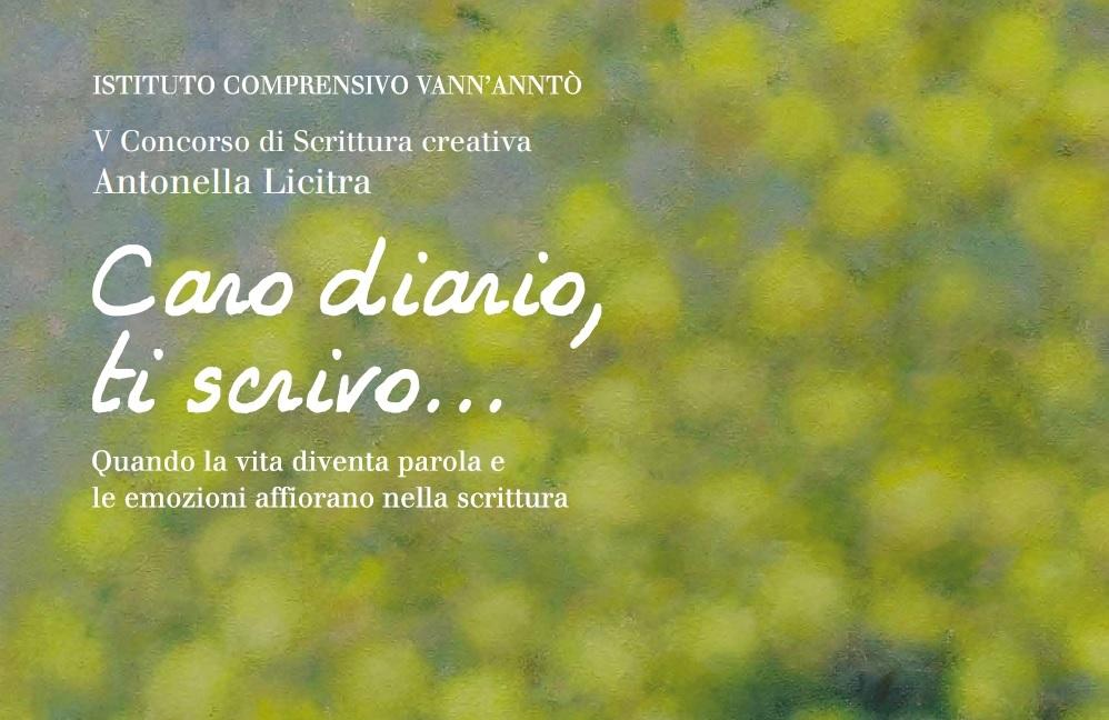 """Ritorna il concorso """"Caro diario, ti scrivo"""". A Ragusa il prossimo 4 giugno la cerimonia di premiazione"""