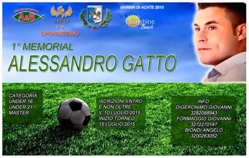 """Marina di Acate. Primo Memorial """"Alessandro Gatto""""."""