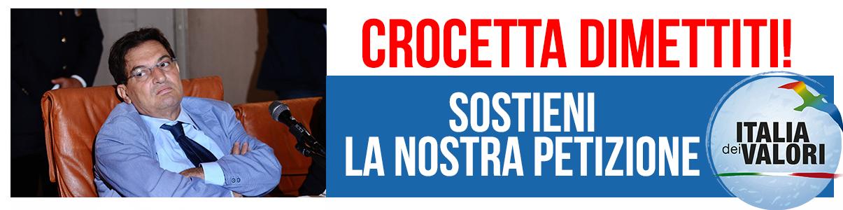 Italia dei Valori promuove una sottoscrizione: CROCETTA, DIMETTITI!