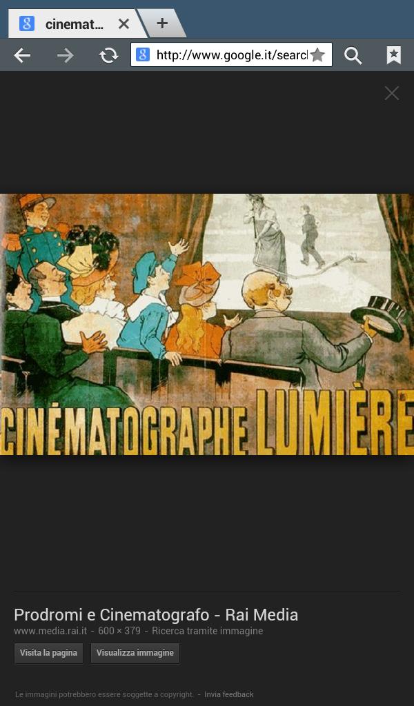 Introduzione alla storia del cinema italiano.