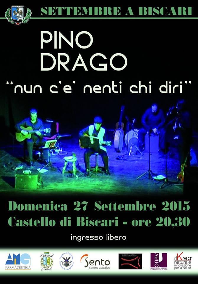 Acate. Musica popolare siciliana con il chitarrista Pino Drago e degustazione di formaggi e salumi, questa sera al Castello.