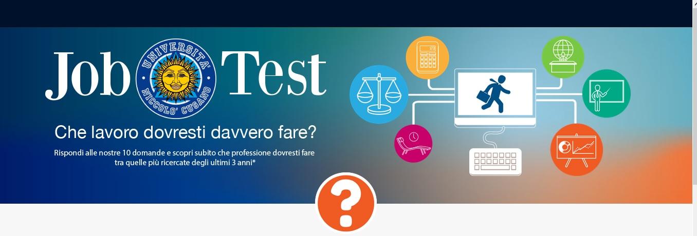 """""""Cosa vuoi fare da grande""""? Adesso te lo dice il """"JobTest"""", test Social realizzato dall'Università degli Studi Niccolò Cusano di Roma"""