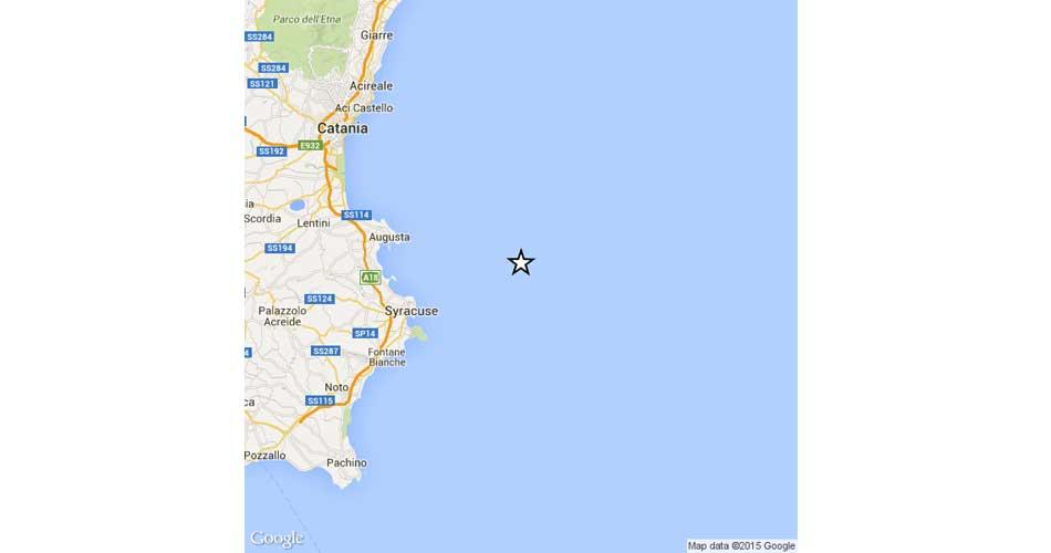Terremoto al largo della costa siracusana