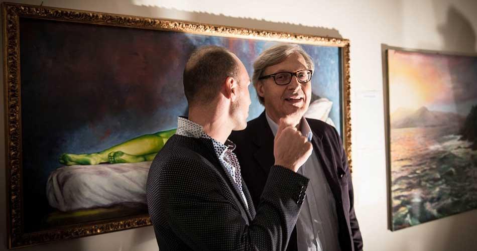 Claudio D'Angelo espone alla Biennale di Venezia. Gli apprezzamenti del Prof. Vittorio Sgarbi