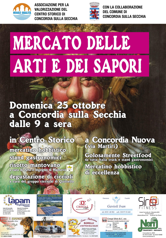 """Concordia sulla Secchia. """"Mercato delle arti e dei sapori"""", domenica 25 ottobre, Centro Storico ed area Concordia Nuova."""