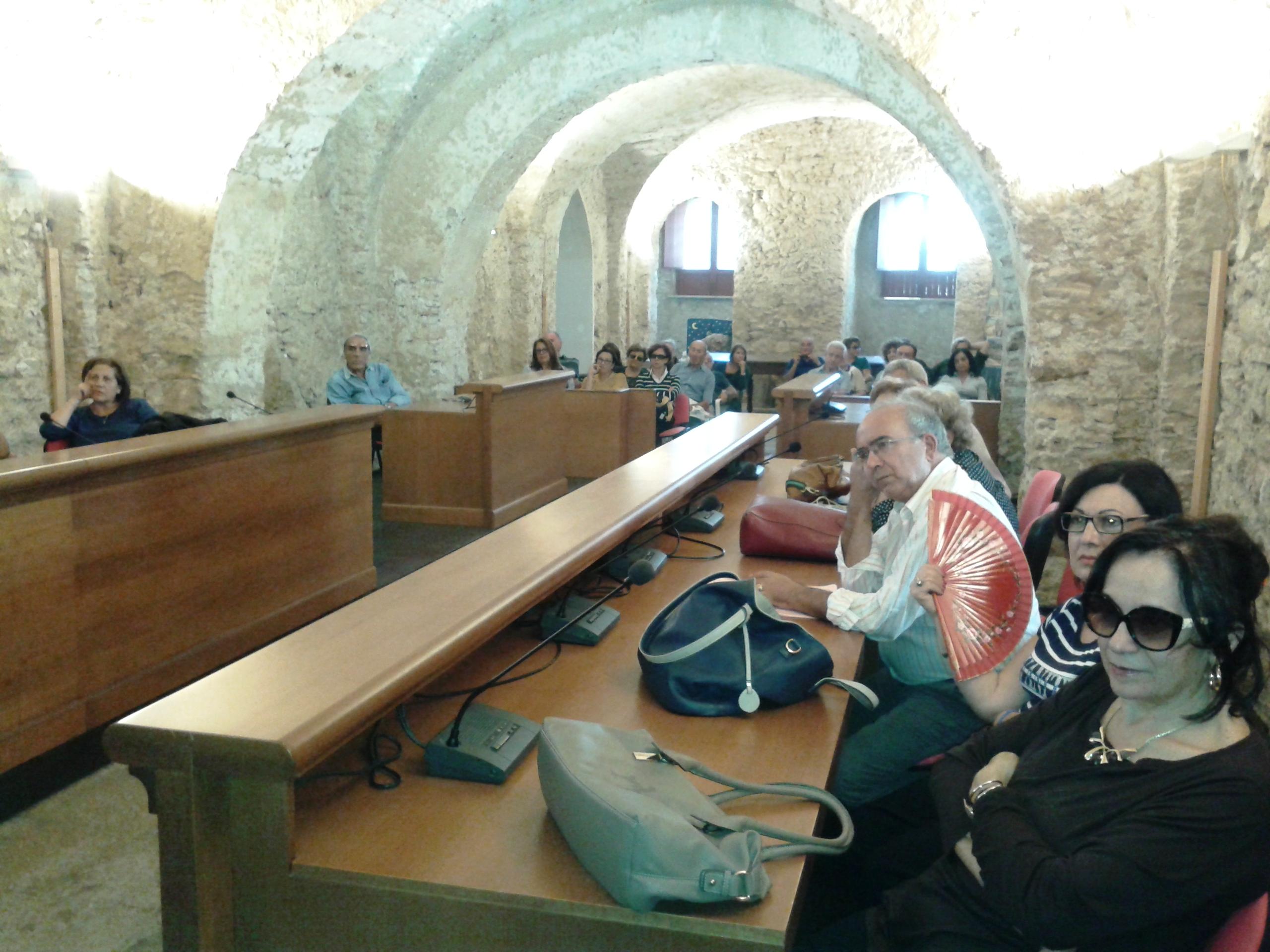 Acate. Comitiva di turisti di Messina in visita al Castello di Acate.