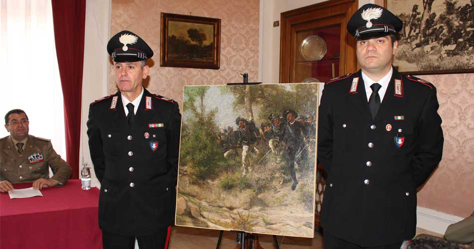 I Carabinieri recuperano un'importante opera d'arte trafugata dai nazisti nel 1943