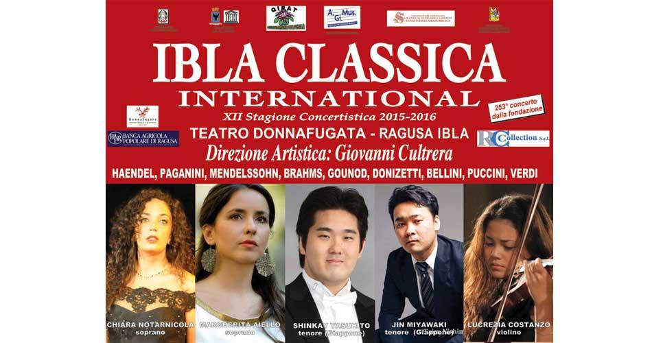 MUSICA: Domenica 8 novembre ci sarà l'Atelier della lirica internazionale per la stagione musicale Ibla Classica International