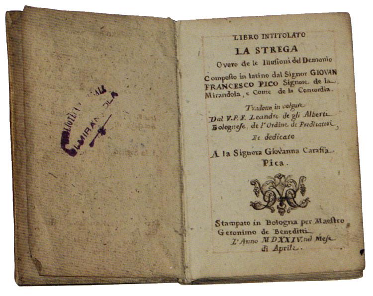 """Mirandola. """"Le streghe e Giovan Francesco Pico""""."""