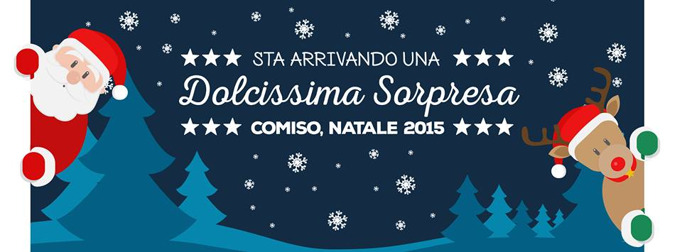 """Comiso. Style Agency: """"Sotto il cielo di Natale, Corso in festa""""."""
