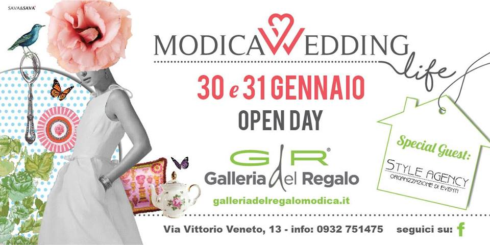 "Modica. Galleria del Regalo presenta ""Modica Wedding Day"". La Style Agency Special Guest."