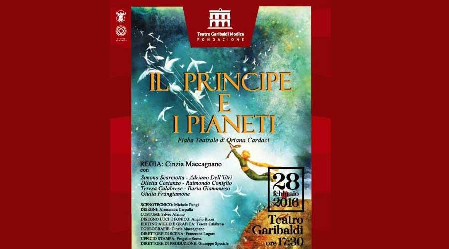 """Modica. Teatro per bambini. Domenica in scena """"Il principe e i Pianeti"""""""