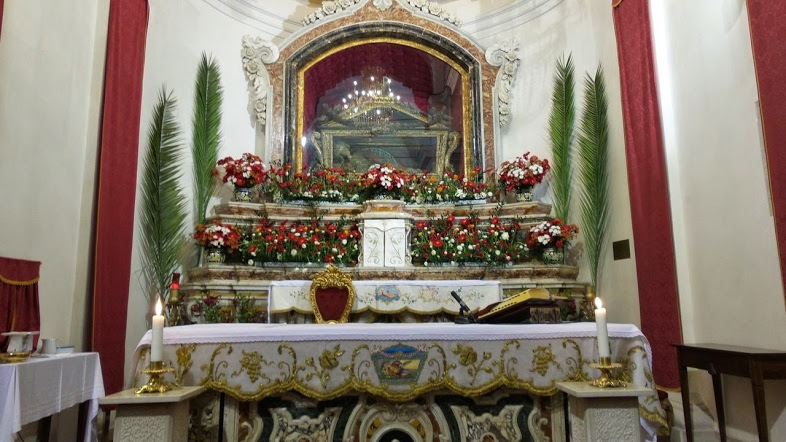 """Acate. """"San Vincenzo Martire e la Conchiglia spagnola di San Giacomo""""."""
