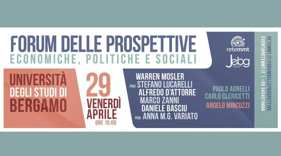 """Come risolvere la disoccupazione nell'Eurozona? Se ne parla al """"Forum delle prospettive economiche"""" a Bergamo il 29 aprile"""