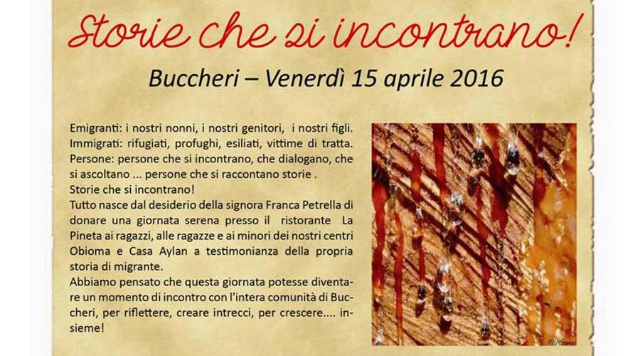 """Storie che si incontrano!"", Venerdì 15 Aprile 2016 a Buccheri"