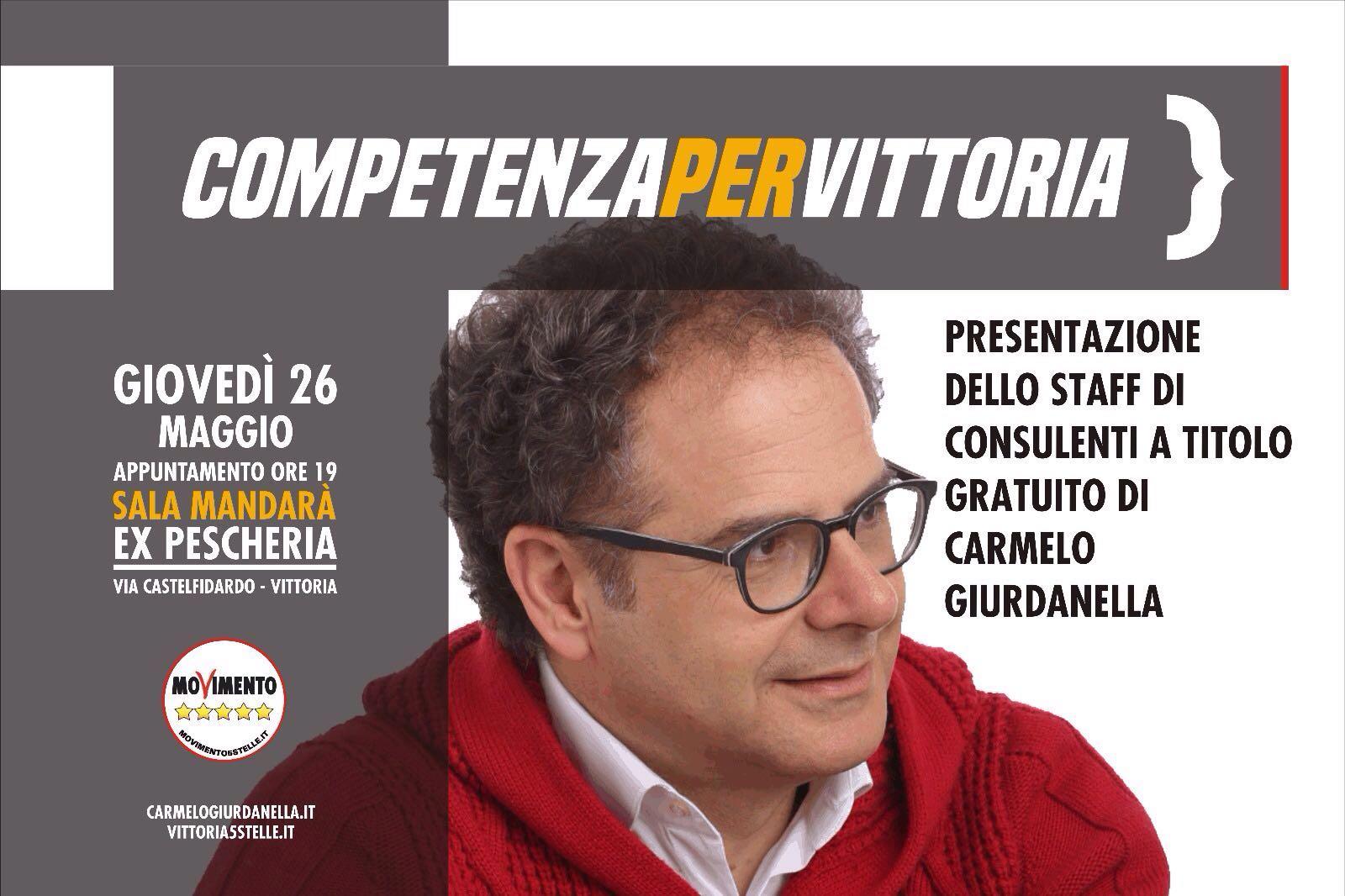 Vittoria. Carmelo Giurdanella presenta lo staff di Consulenti a titolo gratuito